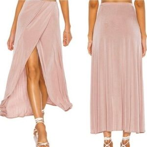 Free People Smoke & Mirrors Faux Wrap Skirt XS